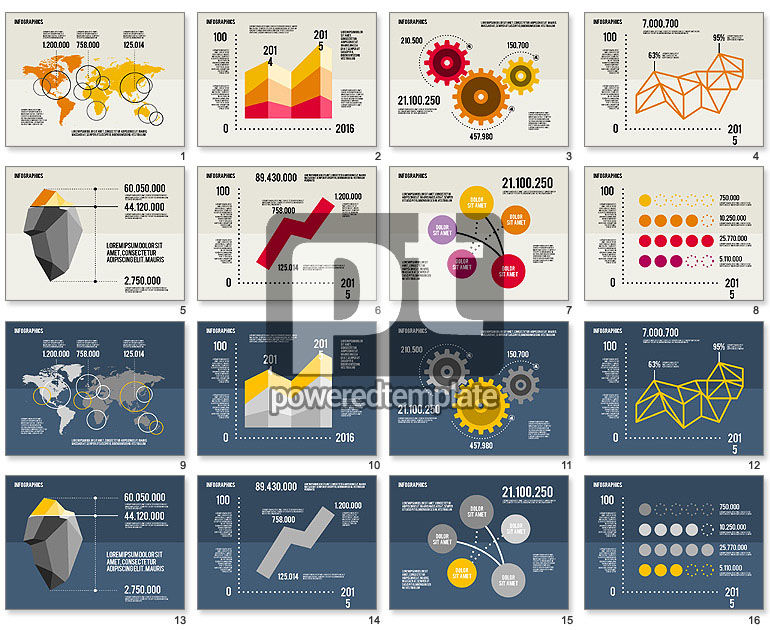 Infographics Toolbox in Flat Design