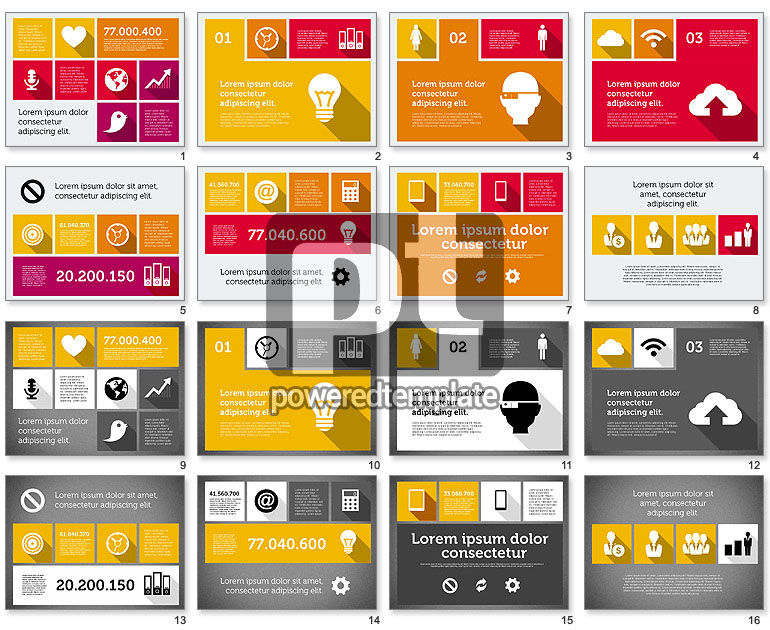 Technology Presentation In Flat Design For Powerpoint