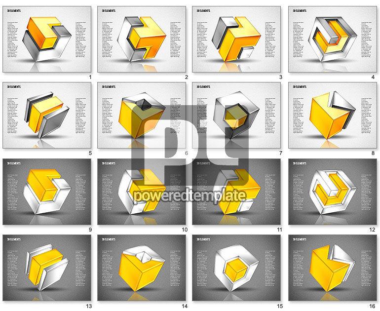 3D Cubes Puzzle Shapes