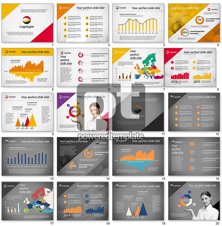 Elegant Presentation Template For Powerpoint Presentations
