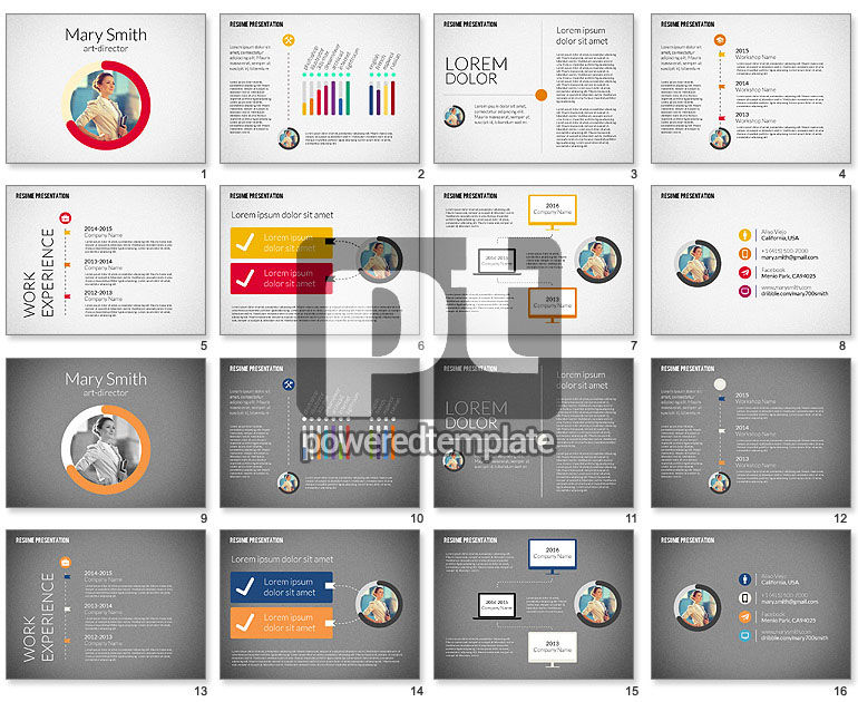 infographic resume template powerpoint free download presentation art director