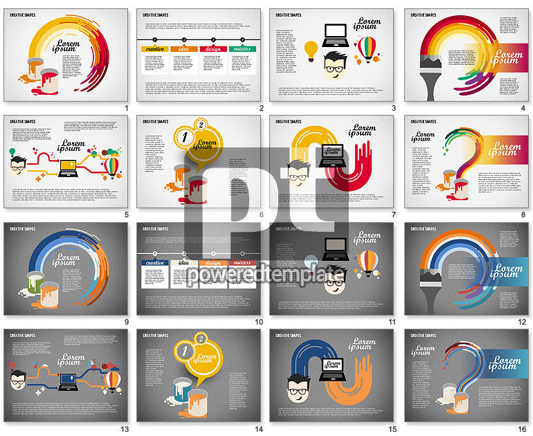 presentation with creative shapes for powerpoint presentations