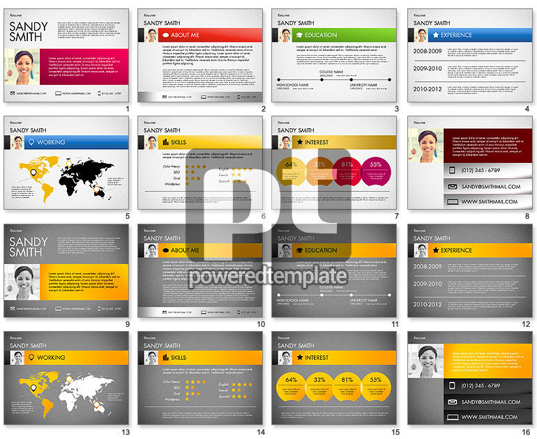 powerpoint visual resume template infographic free modern best templates