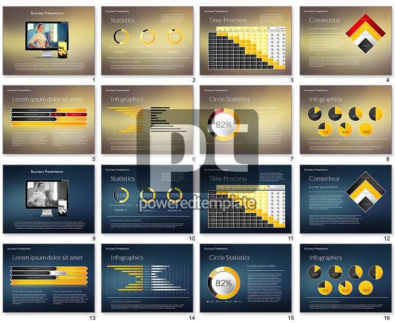 Modern Business Presentation Template For Powerpoint Presentations