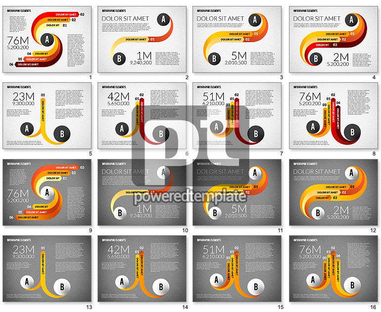 Round and Curved Infographic Elements