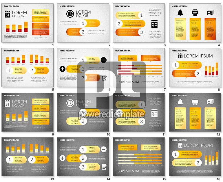 Business Presentations with Flat Shapes