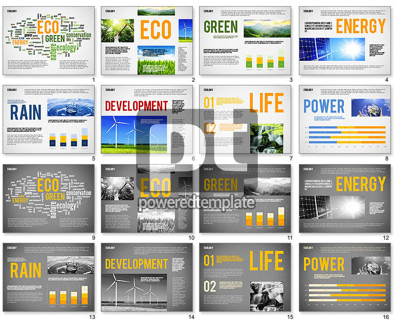 Ecology Word Cloud Presentation Template