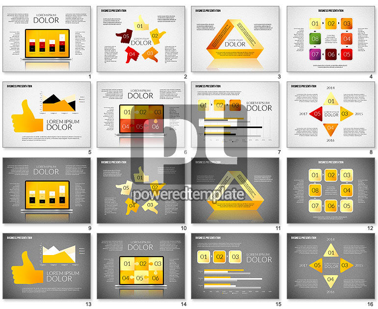 Presentation with Colorful Flat Shapes (data driven)