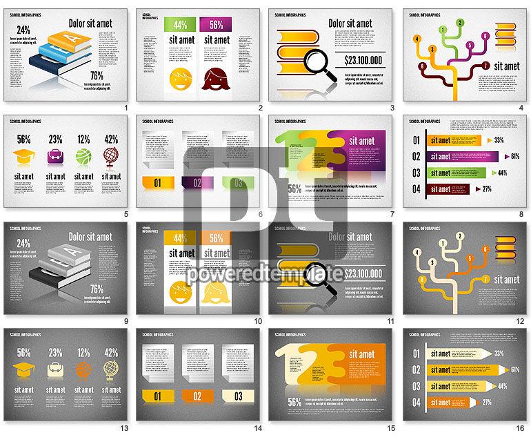 Modern School Infographics