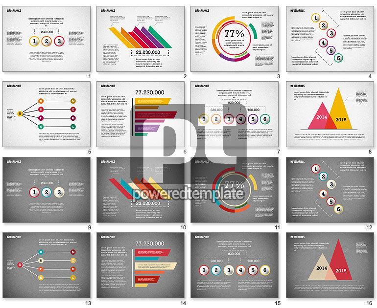 Gut bekannt Modern Presentation with Flat Shapes for PowerPoint Presentations  XN31