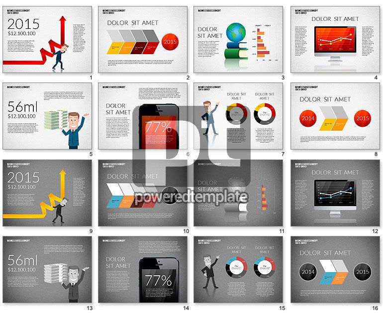 Business Success Presentation Concept (data driven)