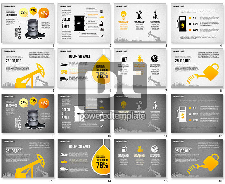 Oil Infographics Presentation Template