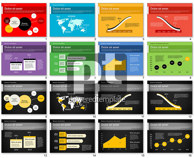 Business Report Modern Presentation Template (data driven)