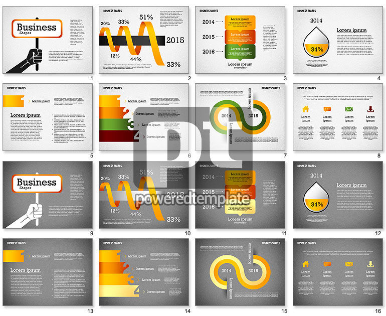Presentation Template with Business Shapes
