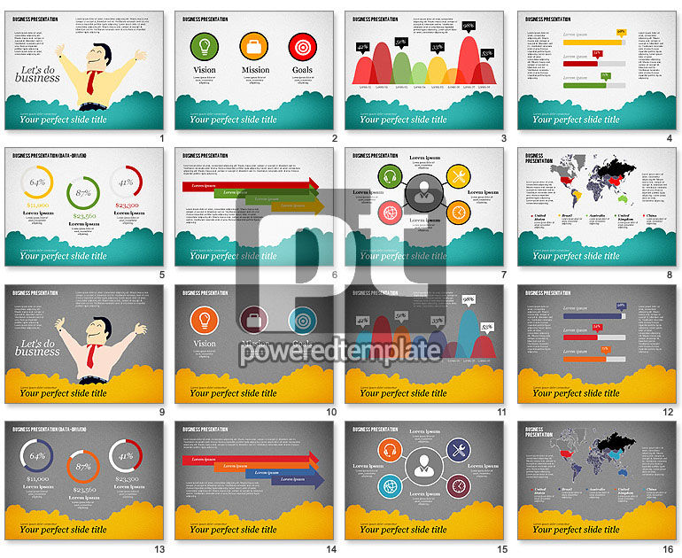 Success Business Presentation Template For Powerpoint Presentations