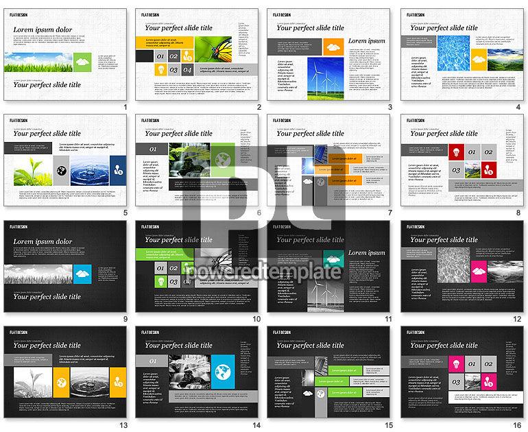 Environmental Presentation in Flat Design
