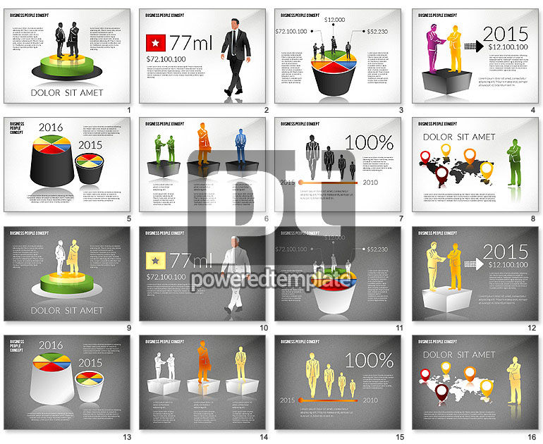 Concept with Business People Silhouettes