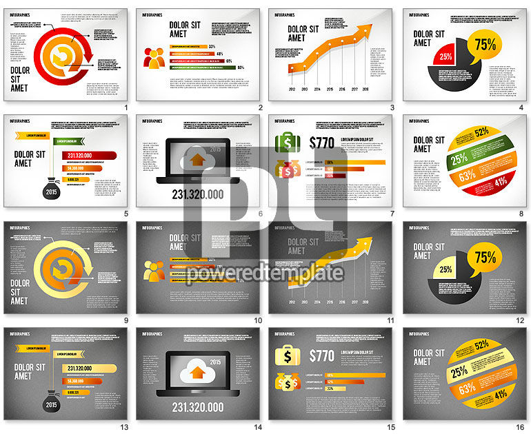 Infographics Charts Template