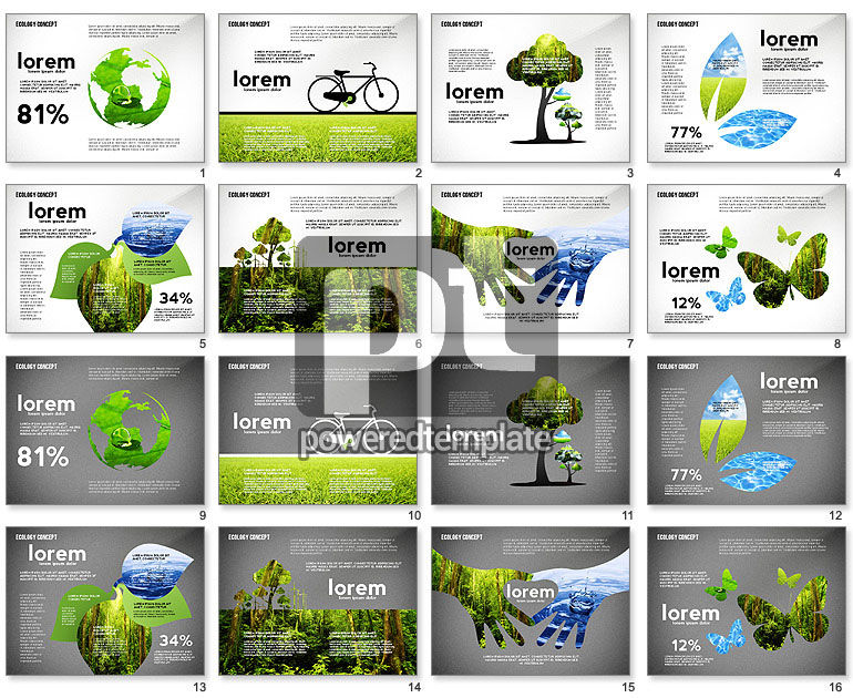Ecology Silhouettes Presentation Template
