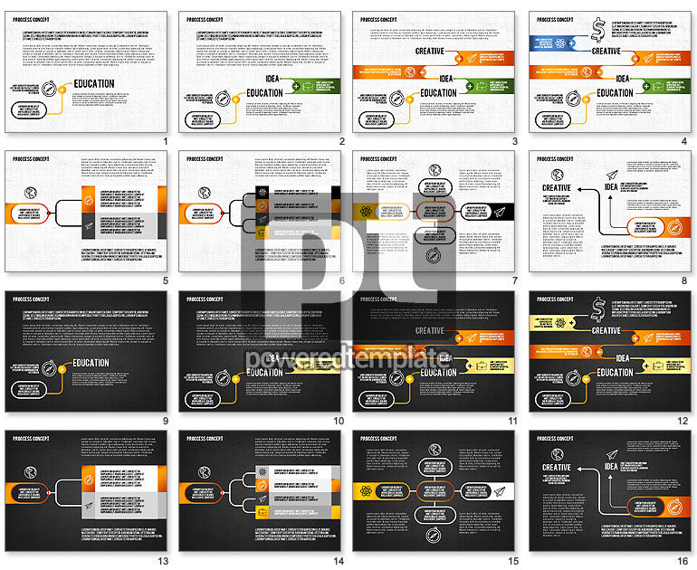 Step by Step Process Presentation Concept