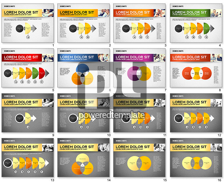 Colorful Business Charts Collection