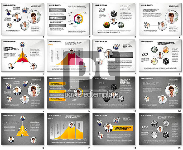 Business Team Player Efficiency Presentation Template