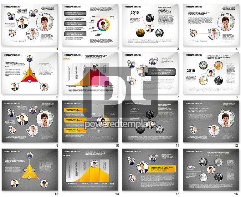 Business Team Player Efficiency Presentation Template