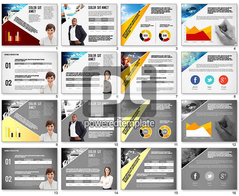 Modern Style Business Presentation Template