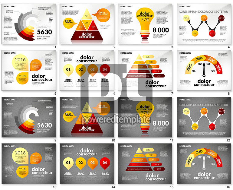 Infographic Style Business Shapes Toolbox