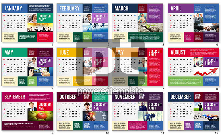Calendar Presentation Template For Powerpoint Presentations