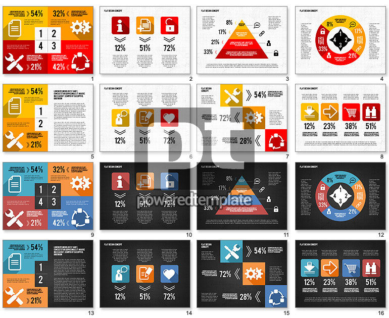 Flat Design Icons Presentation Toolbox