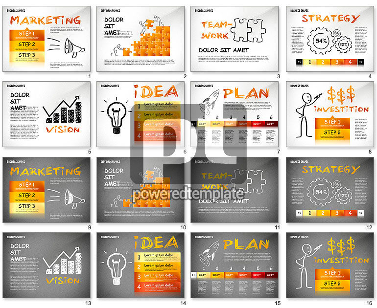 Marketing Steps Strategy Presentation Template