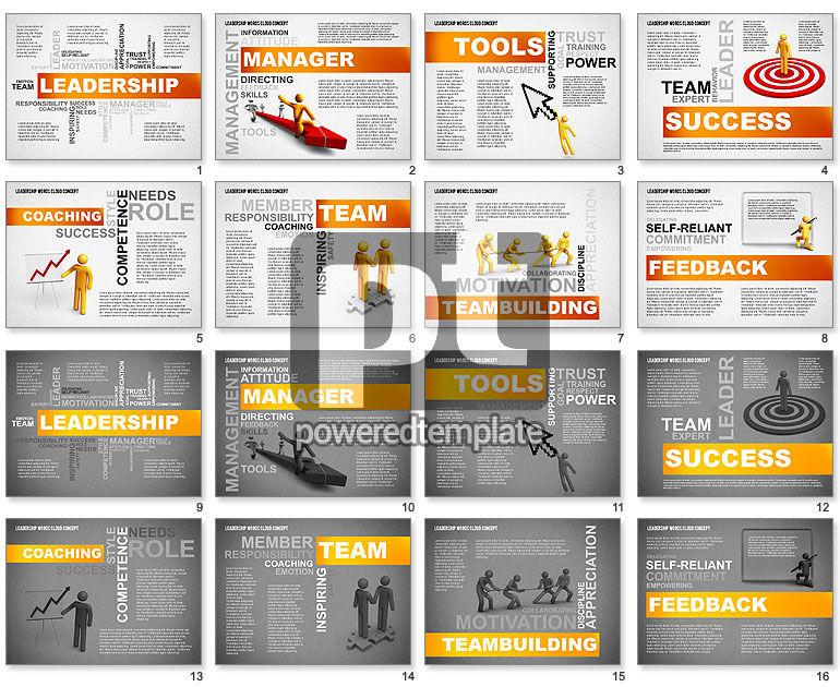 Leadership Word Cloud Presentation Template