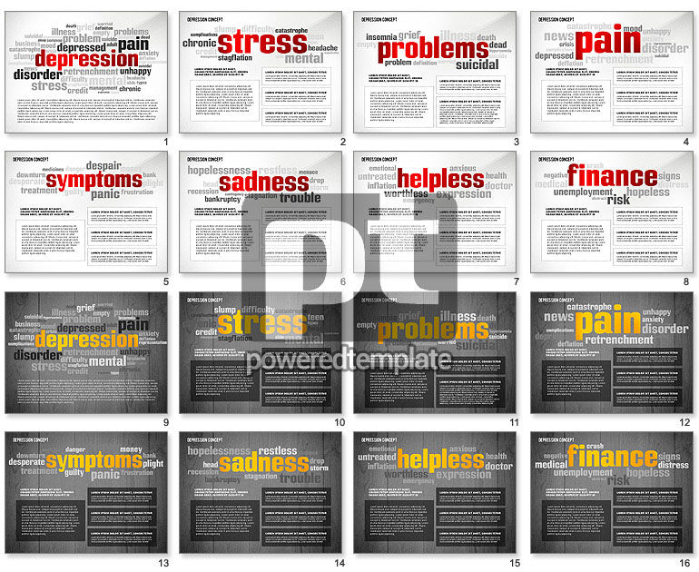 Psychology Symptoms Word Cloud Presentation Template