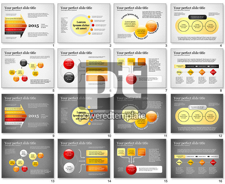 Presentation Concept with Plain Shapes