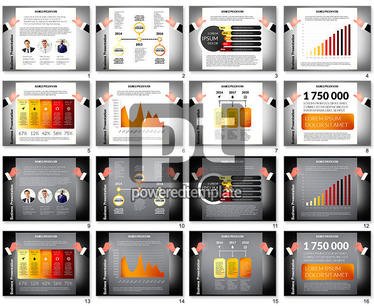 Unusual Business Presentation with Data Driven Charts