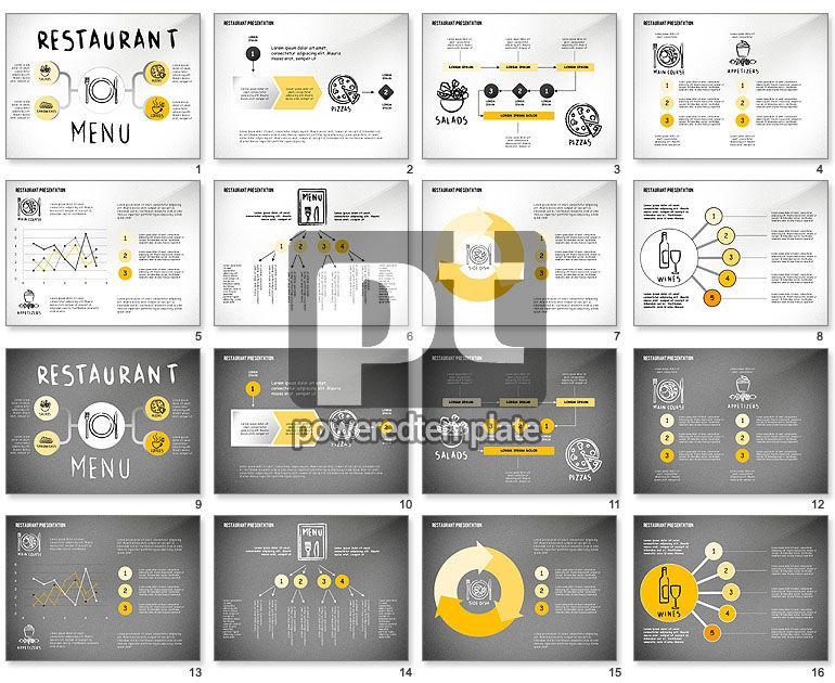 Restaurant Menu Serving Presentation Template
