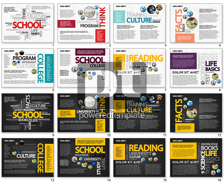 Education Word Cloud Modern Presentation Template