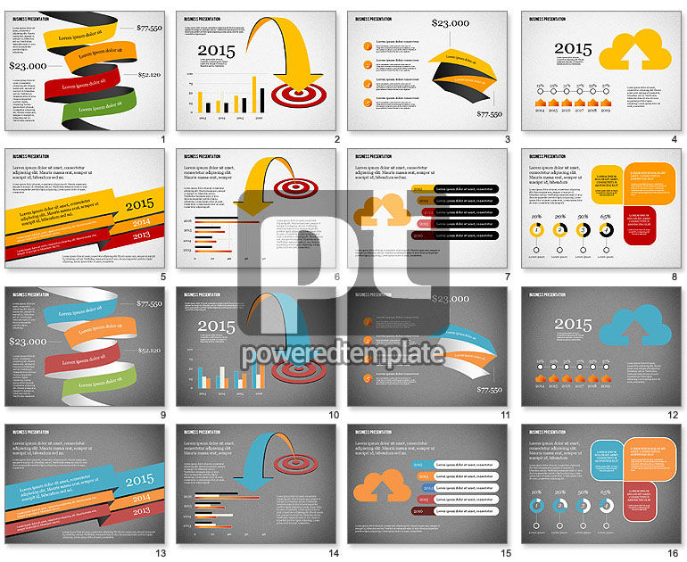 Creative Business Presentation with Data Driven Charts