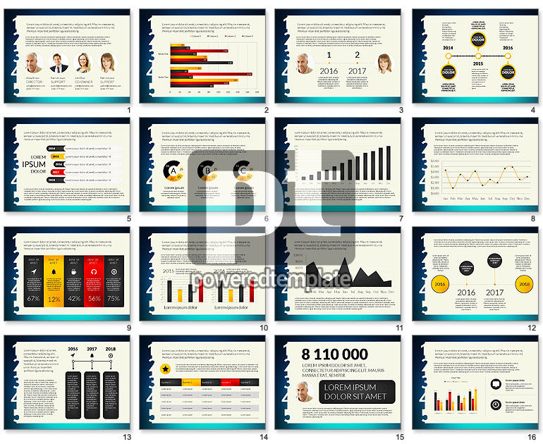 Kickoff Meeting Presentation Template with Data Driven Charts