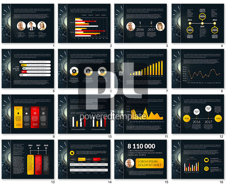 Modern Data Driven Presentation Template