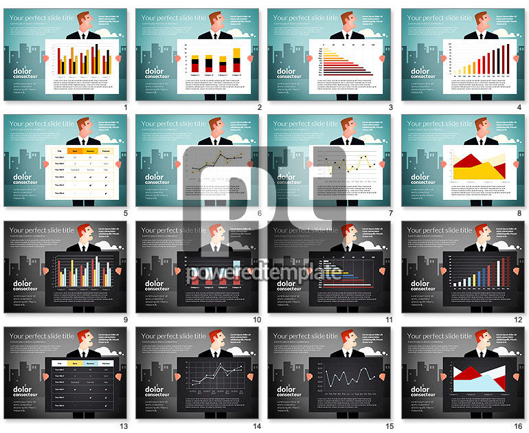 Data Driven Charts with Businessman