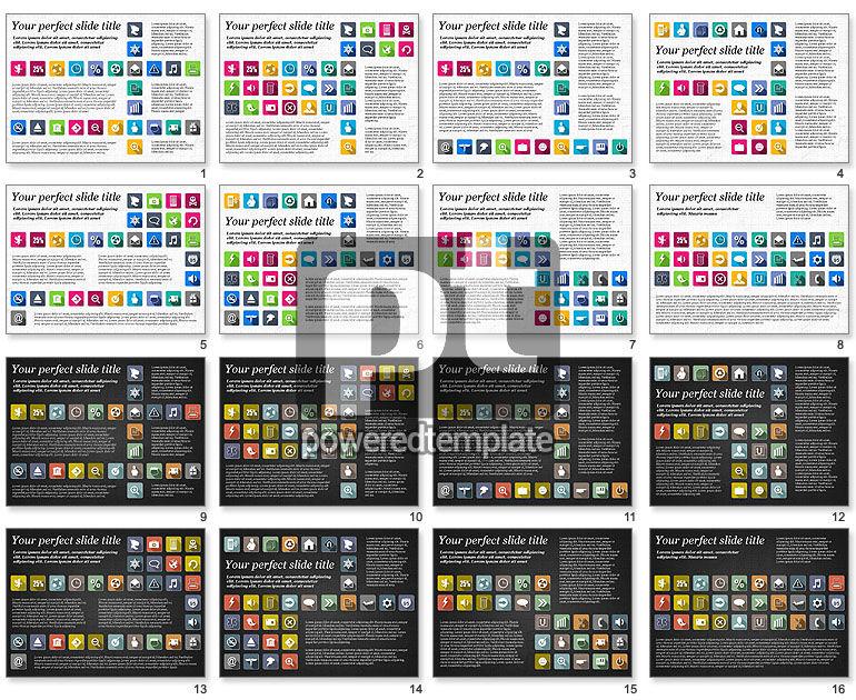 Plantilla de presentación con iconos planos