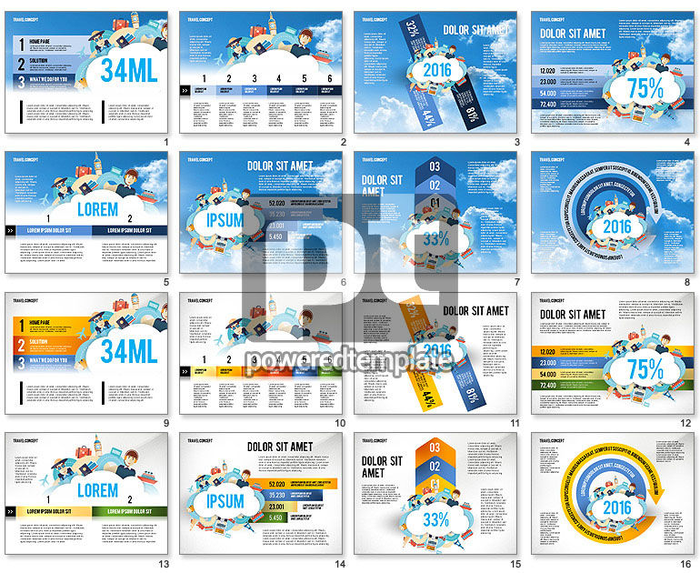 Travel Infographics Presentation Template