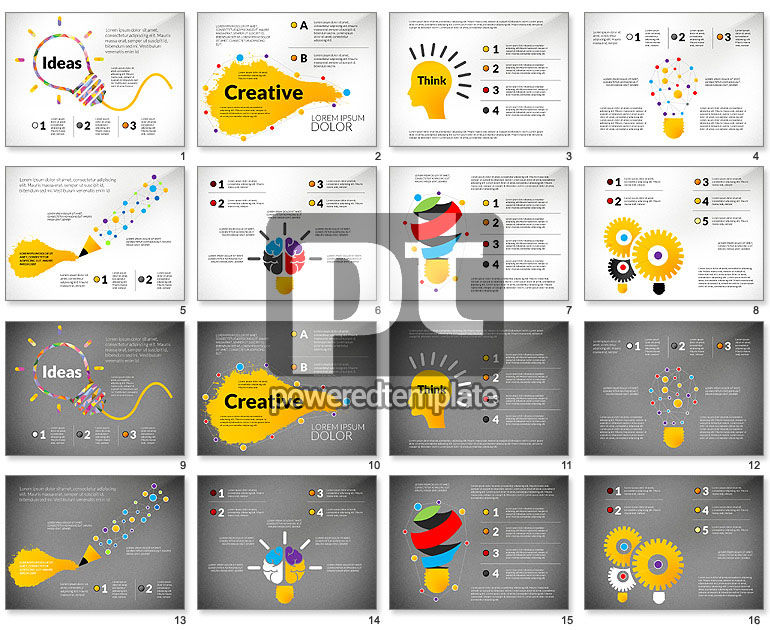Creative Ideas Presentation Template For Powerpoint