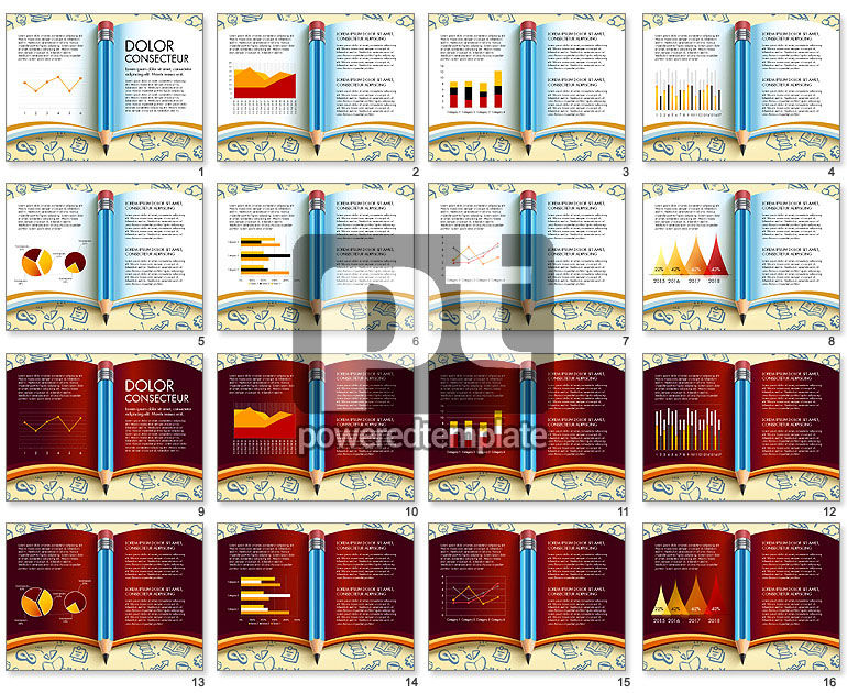 Data Driven Report with Book and Pencil