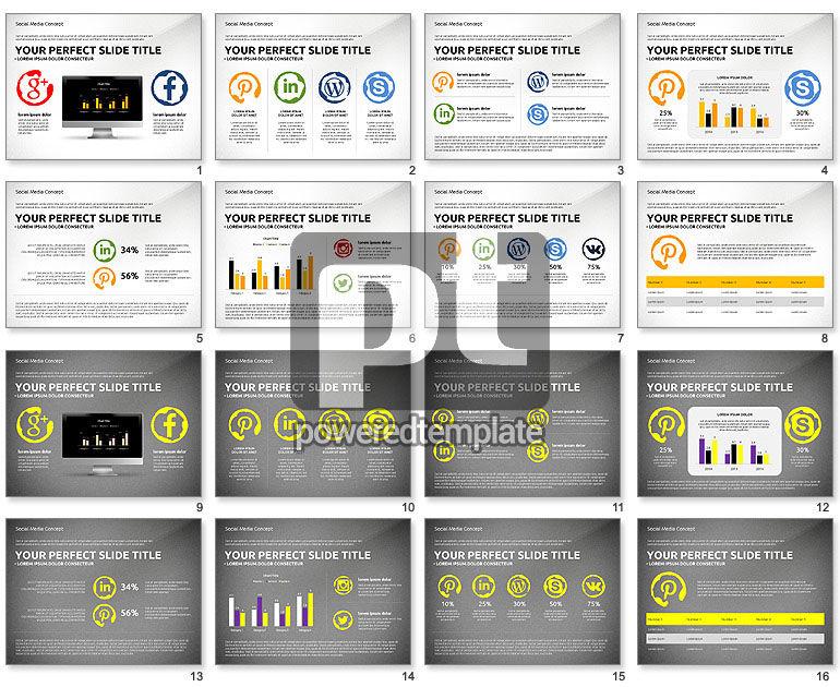 Social Media Presentation Concept Template