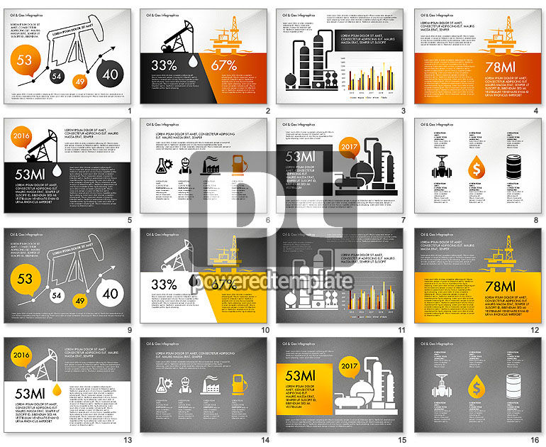 Oil and Gas Presentation Infographics