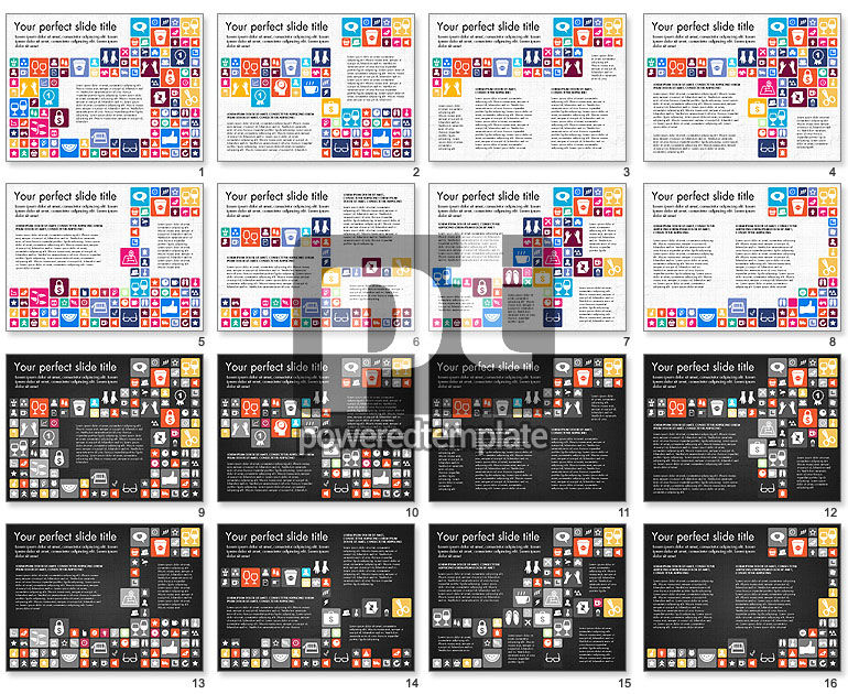 Flat Design Icons Presentation Deck
