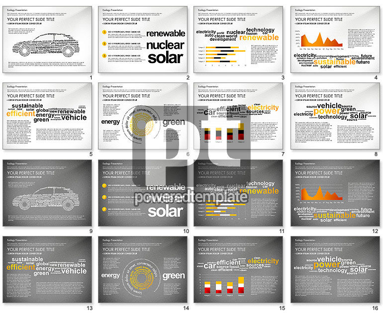 Renewable Energy Word Cloud Presentation Template